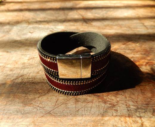 Leather Bracelets Supplies  - Red