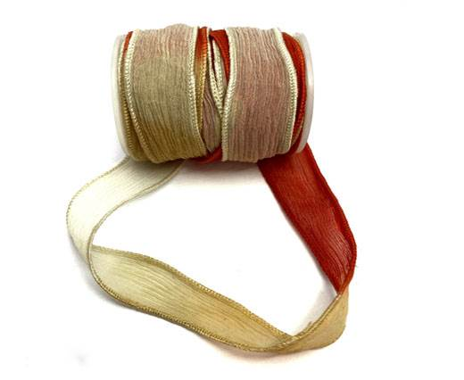 Hand dyed silk ribbons - SE-NF-01