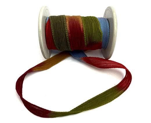 Hand dyed silk ribbons - Tapestry