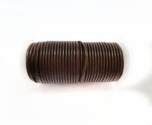 Round leather cord-2mm-HAZELNUT