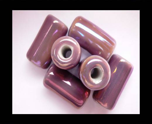 Buy CB-Ceramic Flower-Hollow Tube-Purple AB at wholesale prices