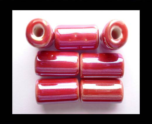 Buy CB-Ceramic Flower-Hollow Tube-Red AB at wholesale prices