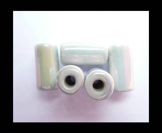 Buy CB-Ceramic Flower-Hollow Tube-White AB at wholesale prices