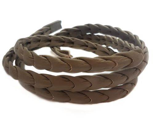 Nappa leather punch style - Dark Brown - 14 mm