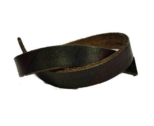 Italian Flat Leather-Bicolored