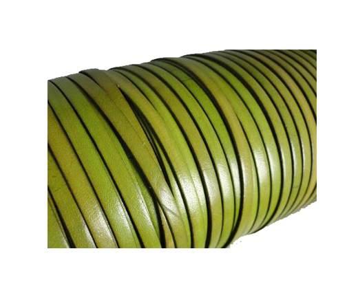 Flat Leather Italian 5mm - Pistachio Green