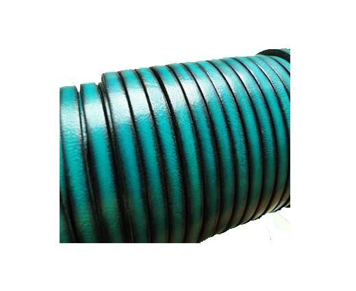 Flat Leather Italian 5mm - Vintage Sea Blue