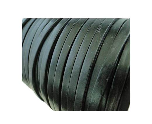 Flat Leather Italian 5mm - Black