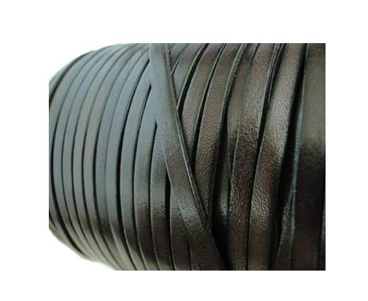 Flat Leather Italian 5mm - Dark Brown