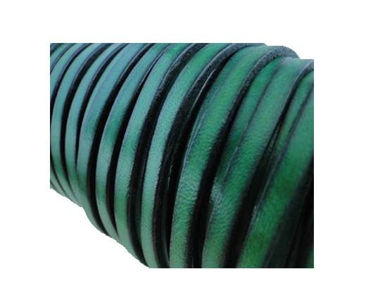Flat Leather Italian 5mm - Forest Green