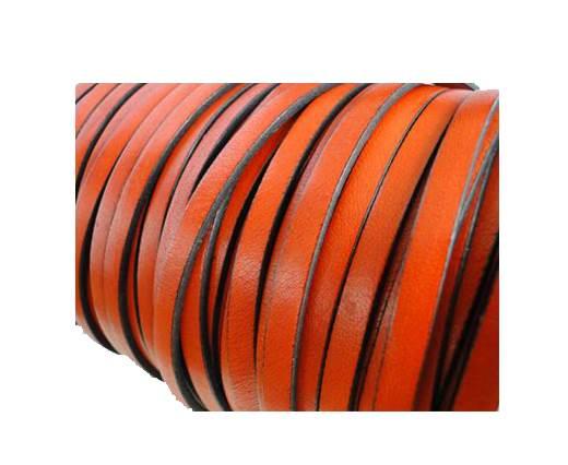 Flat Leather Italian 5mm - Orange