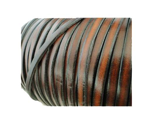 Flat Leather Italian 5mm - Vintage Brown