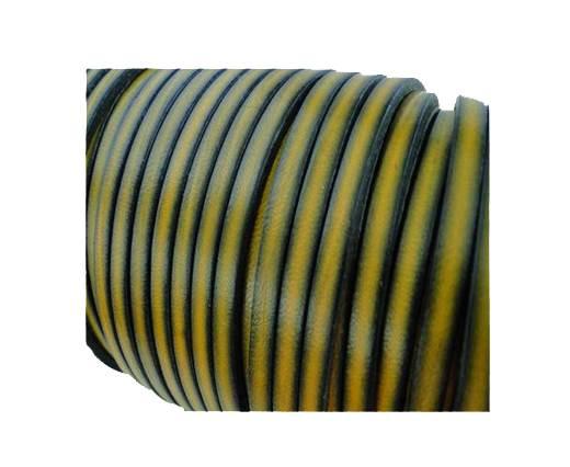 Flat Leather Italian 5mm - Vintage Yellow