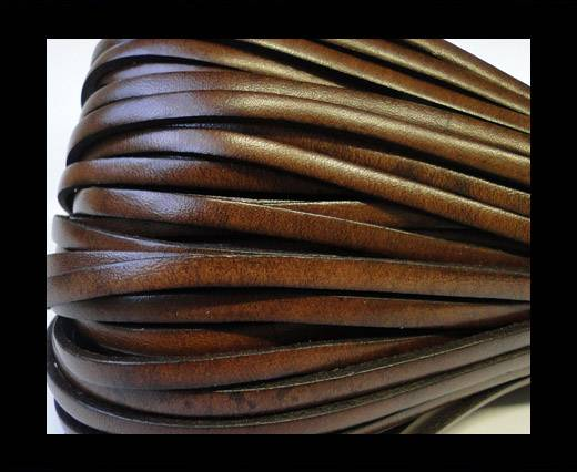 Flat Leather Italian 5mm - Chocolate brown