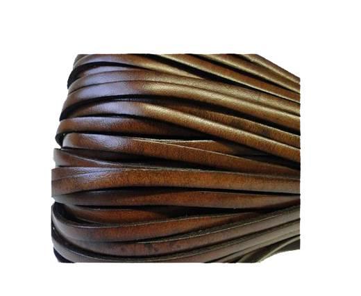 Flat Leather Italian 5mm - Chocolate brown