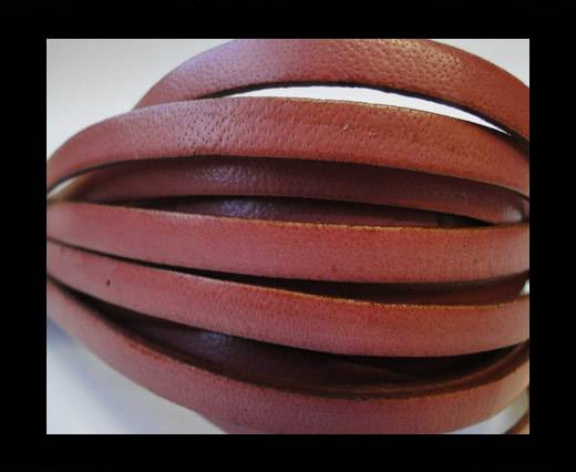 Flat Leather Italian 5mm - Dark Rose