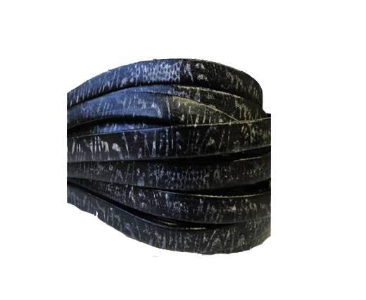 Flat Leather Italian 5mm - Aboriginal Black