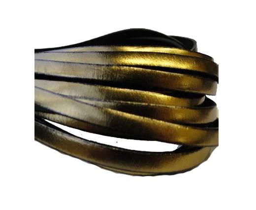 Flat Leather Italian 5mm - Bronze