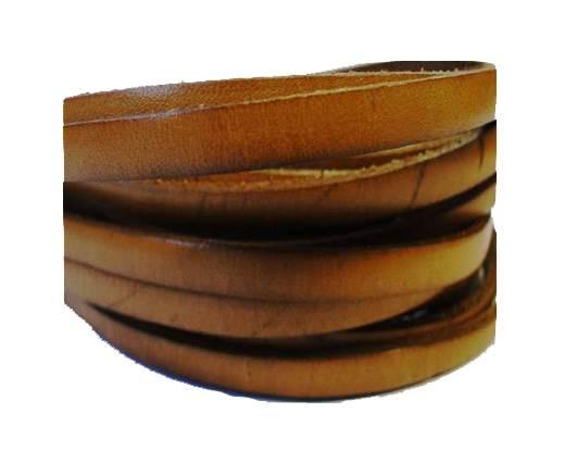 Flat Leather Italian 5mm - Light Brown