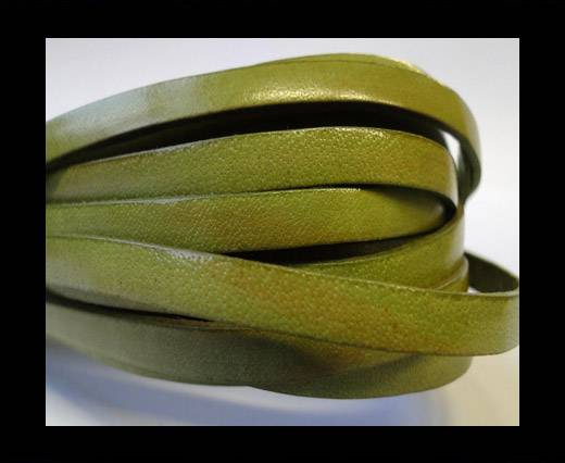 Flat Leather Italian 5mm - Olive Green