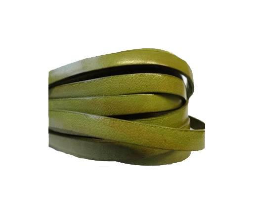 Flat Leather Italian 5mm - Olive Green