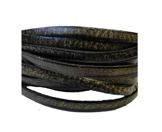 Flat Leather Italian 5mm - Vintage Dark Brown