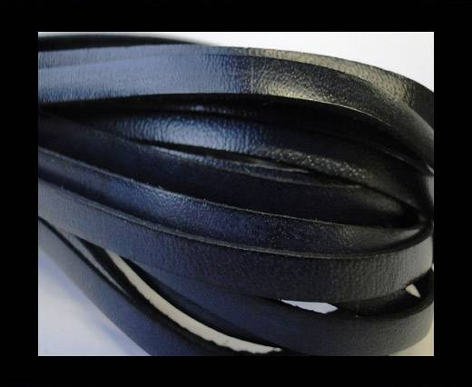 Flat Leather Italian 5mm - Dark Grey