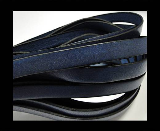 Buy Italian Flat Leather-Black Edges - Dark Blue at wholesale prices