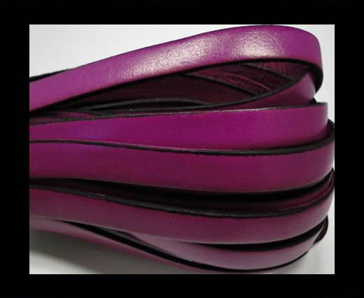 Buy Italian Flat Leather-Black edges - Fuchsia at wholesale prices