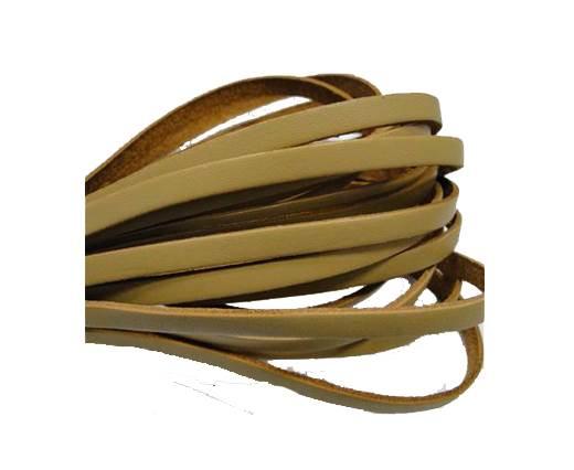Flat leather Italian - 5 mm - Natural edges - Cream