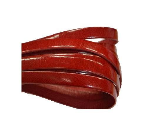 Italian Flat Leather 10mm-Shine red
