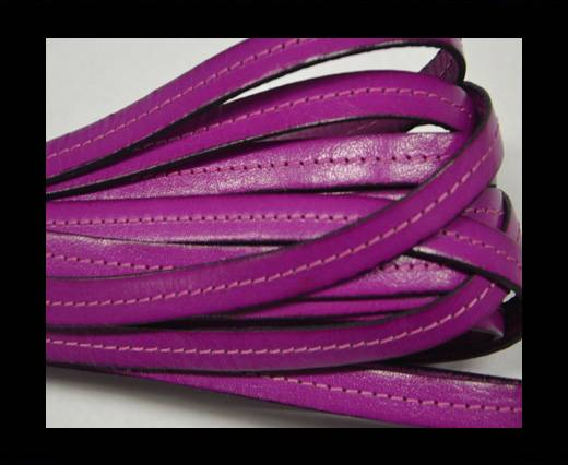Italian Flat Leather-Center Stitched - Black edges - fuchsia