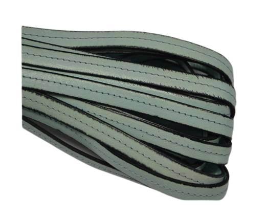 Italian Flat Leather-Center Stitched - Black edges - Mint