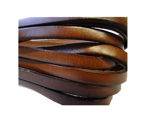 Flat  leather Italian - 5mm - Maroon