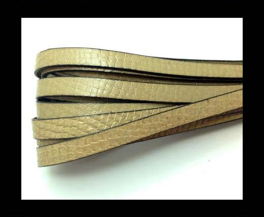 Buy Italian leather 10mm Crocodile Style - Taupe at wholesale prices
