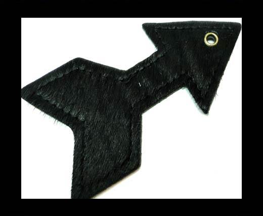 KC-Key Cord Arrow Shape 8cm Black