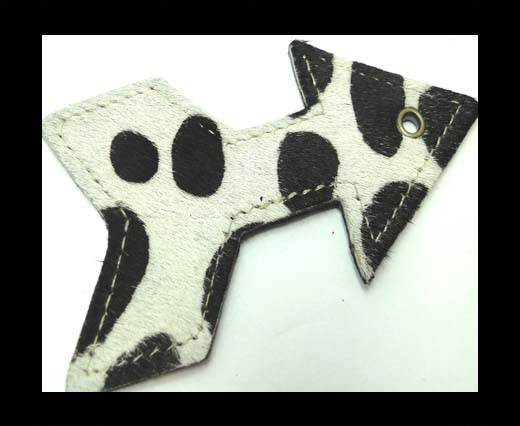KC-Key Cord Arrow Shape 8cm Cow