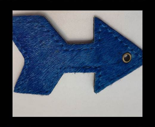 KC-Key Cord Arrow Shape 8cm blue hair-on