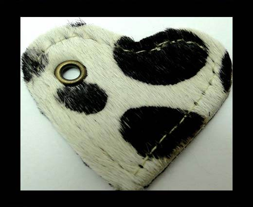 KC-Key Cord Heart Shape 4cm Cow
