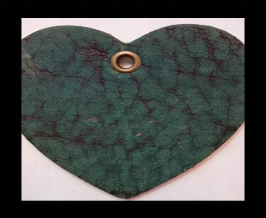 KC-Key Cord Heart Shape 4cm green