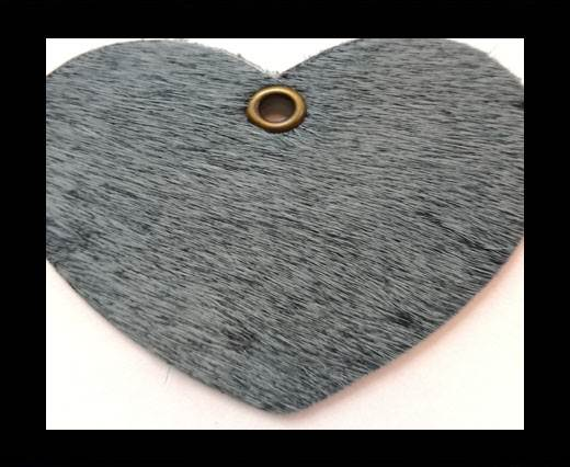KC-Key Cord Heart Shape 4cm grey