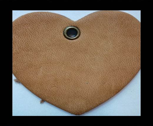 KC-Key Cord Heart Shape 4cm light brown