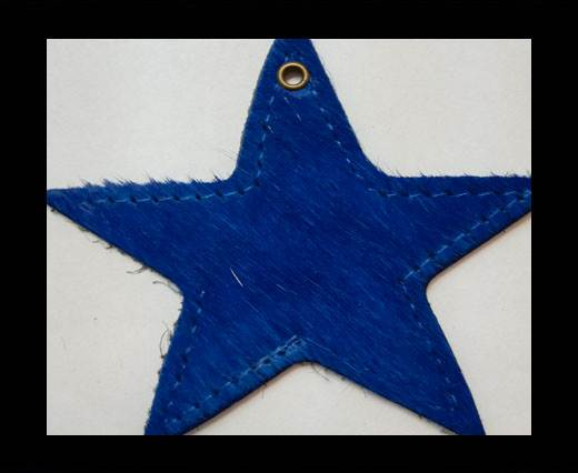 KC-Key Cord Star Shape 8cm blu hair-on
