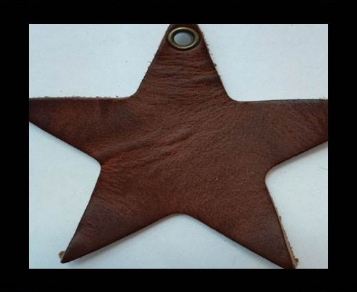 KC-Key Cord Star Shape 8cm brown