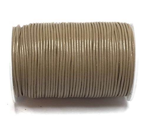 Round Leather Cord -0.5mm-  Khaki