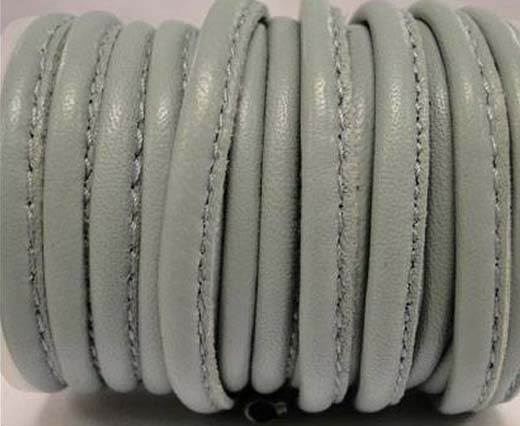 Round stitched nappa leather cord 5MM-Grey