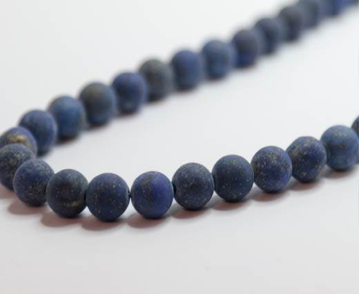 Natural Stones-8mm-Lapis Lazuli Frosted