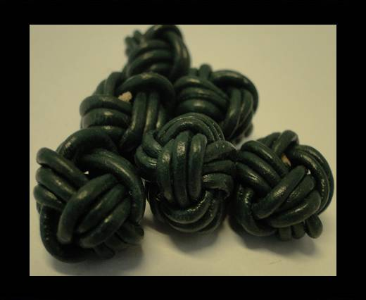 Buy Leather Beads -12mm-Dark Green at wholesale prices