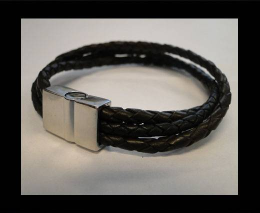 Unisex Leather Bracelet MLBSS-1