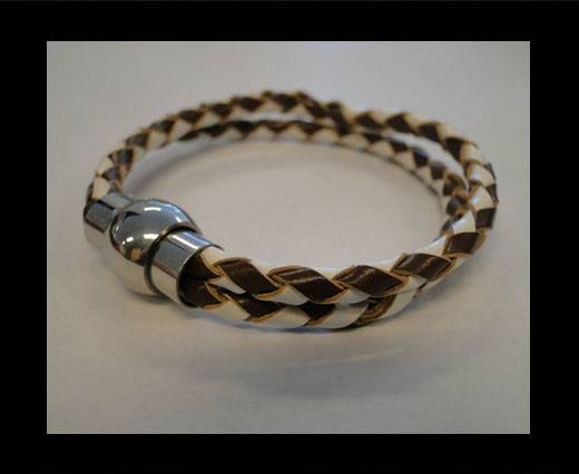 Unisex Leather Bracelet MLBSS-5